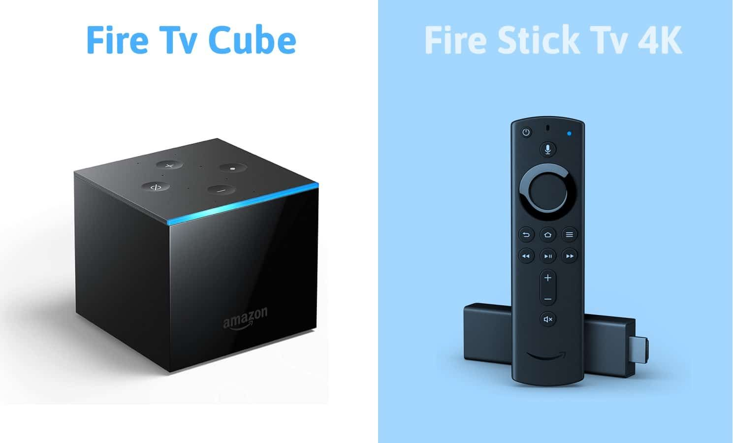 fire tv cube vs fire tv stick 4k