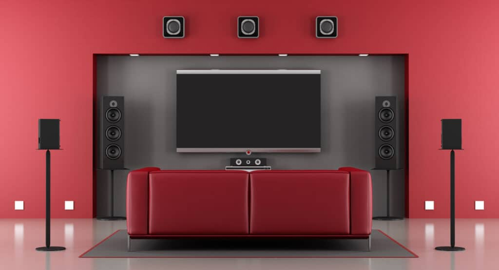 sistema home theatre wireless senza fili