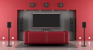 sistema home theatre wireless senza fili