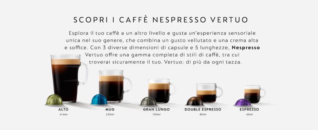 perchè scegliere nespresso vertuo