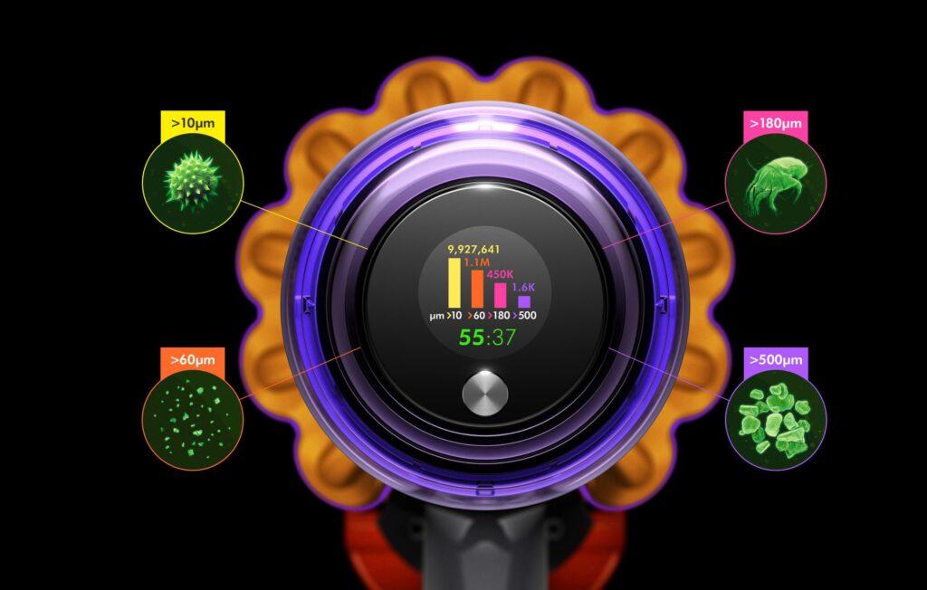 dyson v15 detect display scorie
