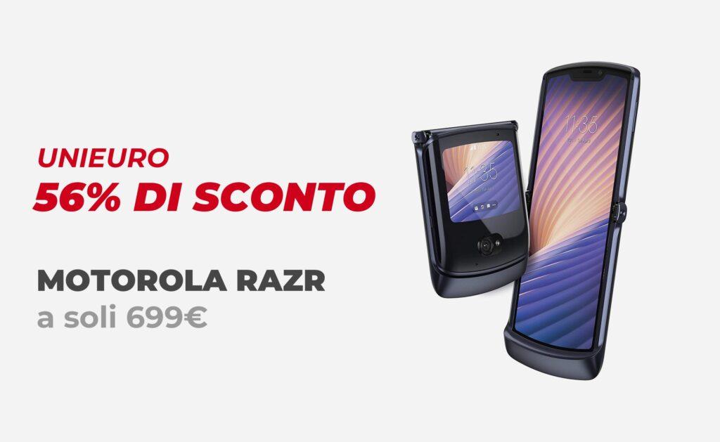 Unieuro e sconti pazzi: Motorola Razr a 699€ (Sconto 56%)